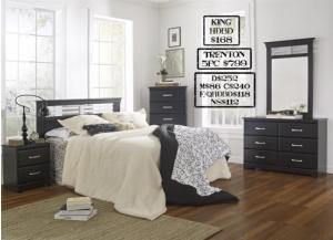 Trenton 5 piece Queen bedroom set also available in Full and King,MEK IMPORTS
