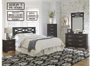Berlin 5 piece Queen bedroom set also available in Full and King,MEK IMPORTS