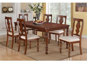 F2424 7 piece dining set package with butterfly leaf includes 6 chairs ,MEK IMPORTS