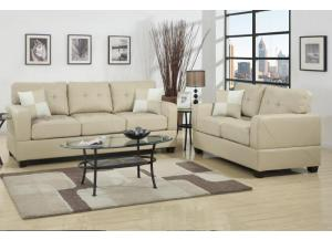F7342 Bonded Leather Sofa & Loveseat