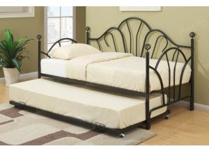 F9237 Day Bed with trundle, slats included (Bedding sold seperately),MEK IMPORTS
