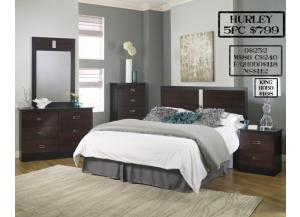 Hurley 5 piece Queen bedroom set also available in Full and King,MEK IMPORTS