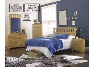 Eagle River 5 piece Queen bedroom set also available in Full and King,MEK IMPORTS