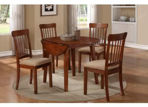 F2073 5 piece drop leaf dining set package includes 4 chairs ,MEK IMPORTS
