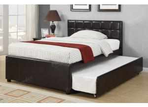 F9215 Full Bed with trundle, slats included (Bedding sold seperately,MEK IMPORTS